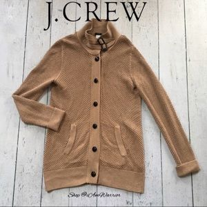 J. Crew tan long clipper cardigan